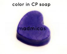 Pow pow purple in CP soap