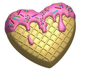 Waffle Heart Mold
